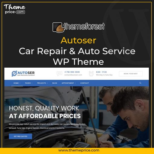 Autoser – Car Repair & Auto Service WP Theme