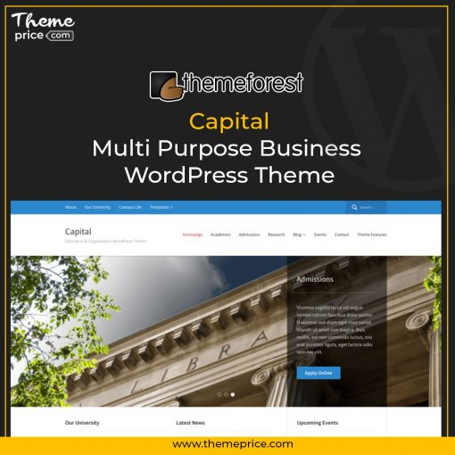 Capital – Multi Purpose Business WordPress Theme