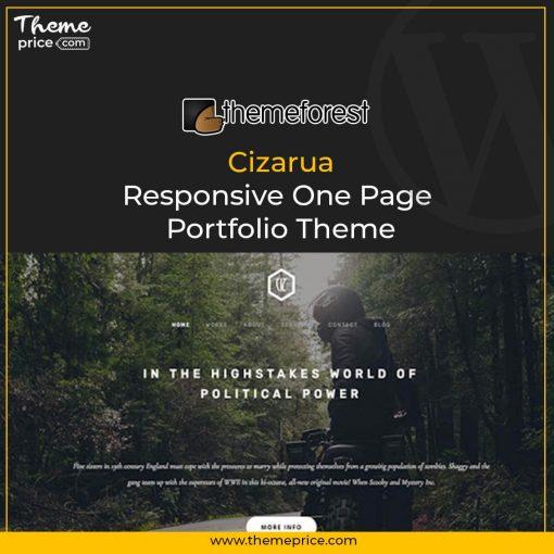 Cizarua – Responsive One Page Portfolio Theme