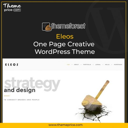 Eleos – One Page Creative WordPress Theme