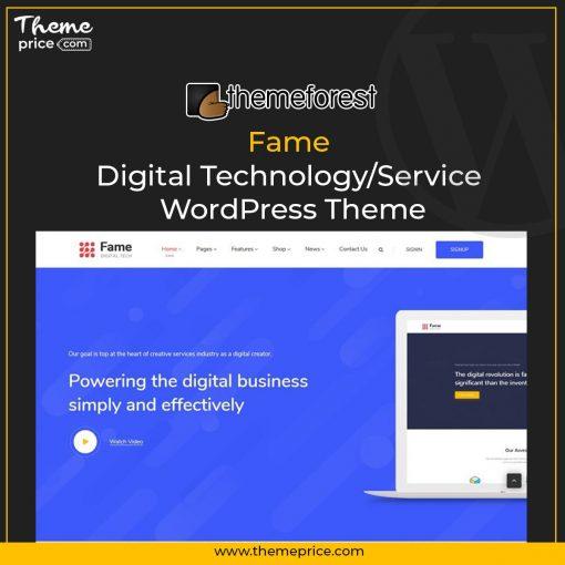Fame – Digital Technology/Service WordPress Theme