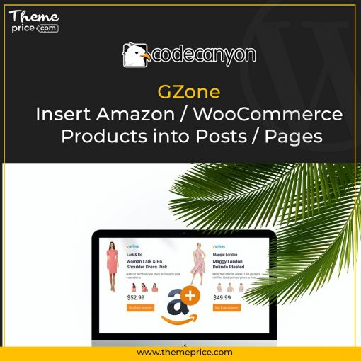 GZone – Insert Amazon / WooCommerce Products into Posts / Pages