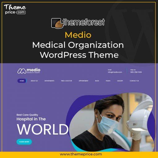 Medio – Medical Organization WordPress Theme