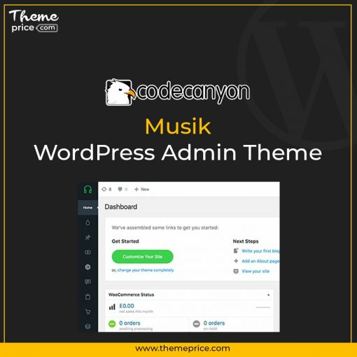 Musik – WordPress Admin Theme