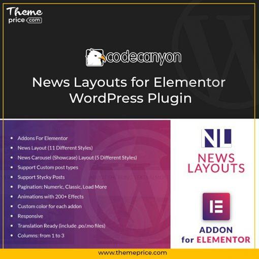 News Layouts for Elementor WordPress Plugin