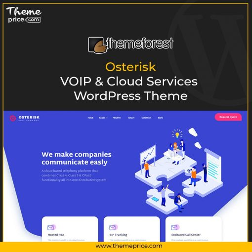 Osterisk: VOIP & Cloud Services WordPress Theme