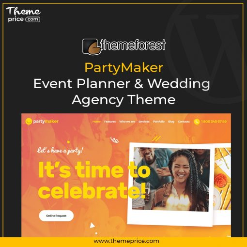 PartyMaker | Event Planner & Wedding Agency Theme