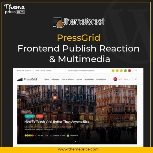 PressGrid Frontend Publish Reaction & Multimedia