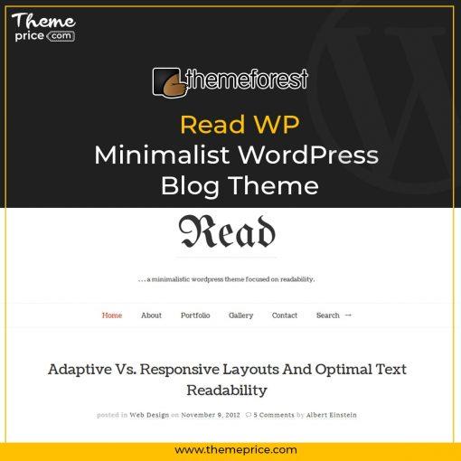 Read WP – Minimalist WordPress Blog Theme
