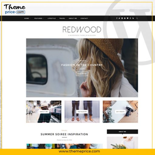 Redwood – A Responsive WordPress Blog Theme