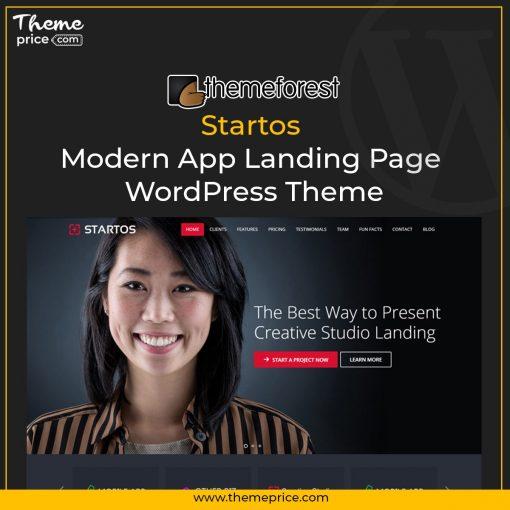 Startos – Modern App Landing Page WordPress Theme