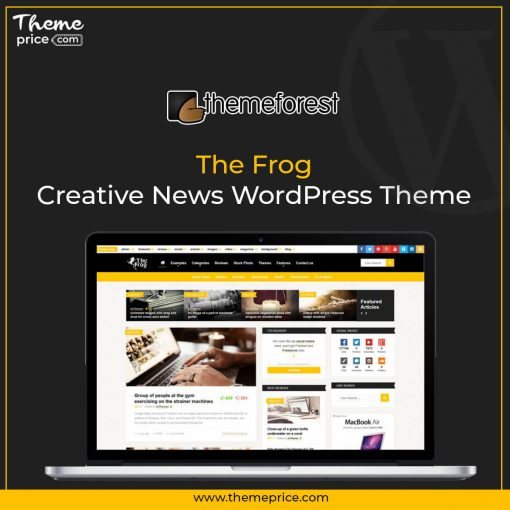 The Frog = Creative News WordPress Theme