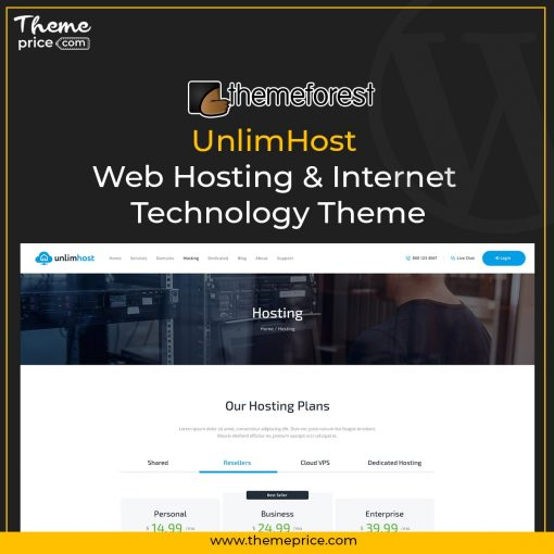 UnlimHost – Web Hosting & Internet Technology Theme
