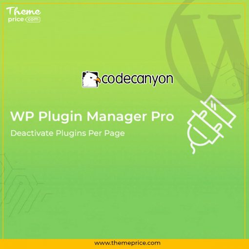 WP Plugin Manager Pro – Deactivate Plugins Per Page