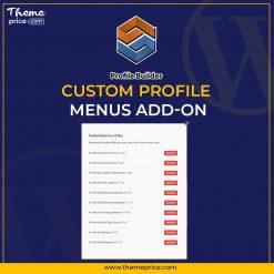 Profile Builder – Custom Profile Menus Add-on
