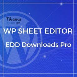 WP Sheet Editor – EDD Downloads Pro