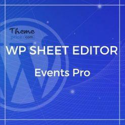 WP Sheet Editor – Events Pro