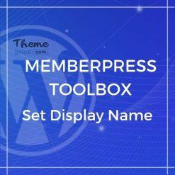 MemberPress Toolbox – Set Display Name