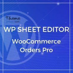 WP Sheet Editor – WooCommerce Orders Pro